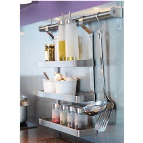 ikea grundtal set spice rack rail    hooks stainless steel maryland kitchen cabinets