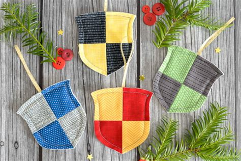 hogwarts house christmas ornaments favequiltscom