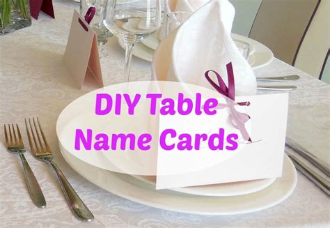 diy table name cards things we do blog