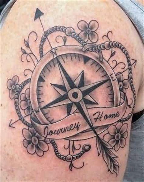 compass tattoos  shoulder
