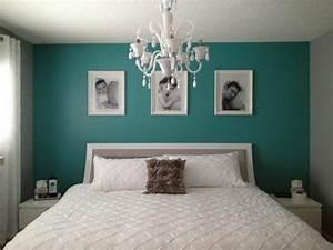 Peinture Mur Chambre : deco chambre vert canard ~ Voncanada.com Idées de Décoration