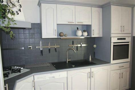 cuisine peinte en gris cuisine relookee chaios com