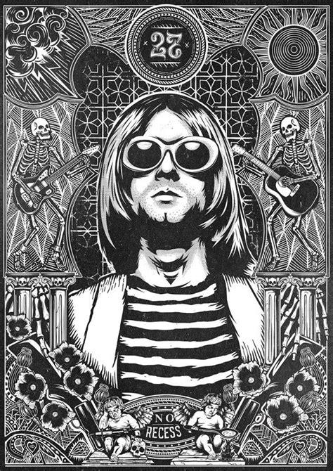 The 27 Club - No Recess on Behance | Nirv & Kurt in 2019 | Nirvana art, Kurt cobain art, Music