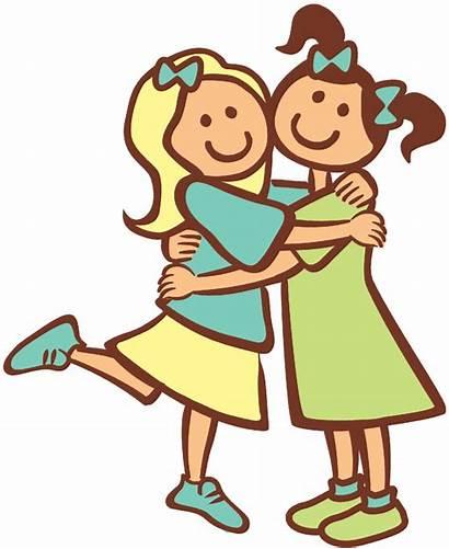 Friendship Friends Cartoon Friend Hug Hugging Drawing
