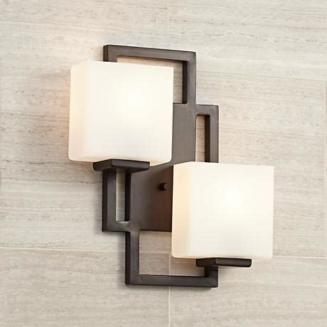lighting on the square bronze 15 1 2 quot high wall sconce - Square Wall Sconce