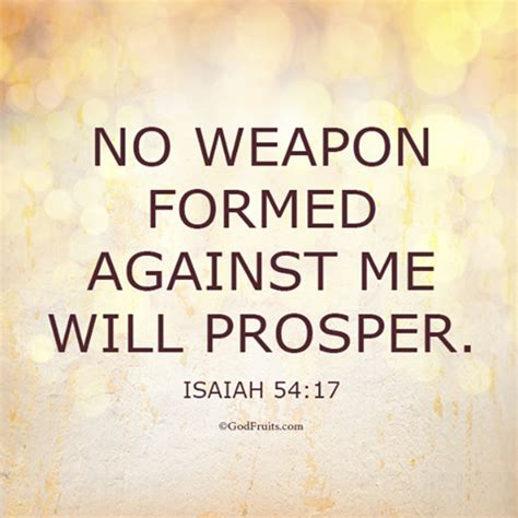 no weapon formed against me words of wisdom