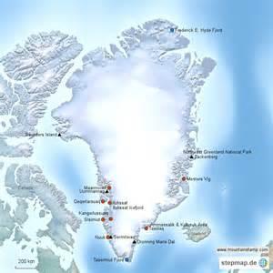 Greenland Island Map