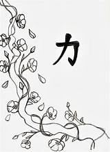 Blossom Cherry Coloring Tree Drawing Line Drawings Flowers Flower Pages Printable Blossoms Adults Draw Adult Cartoon Japanese Colouring Trees Japan sketch template