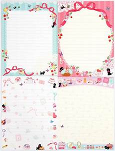 cute french letter set with flowers cats letter sets With kawaii stationery letter set