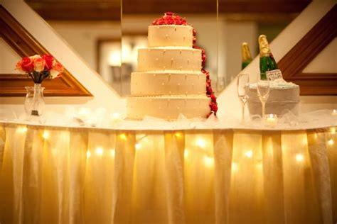 cake table lights weddingbee photo gallery