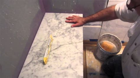 install marble  bench seat  shower curb youtube