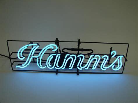 hard  find  hamms beer script neon tavern sign