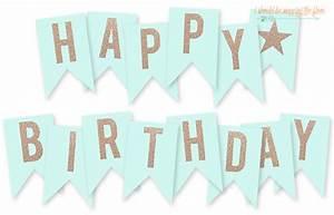 free printable happy birthday banner happy birthday With happy birthday letter banner