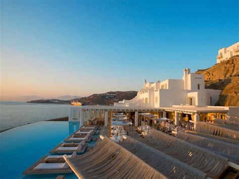 cavo tagoo hotel mykonos  minimalist cliffside paradise