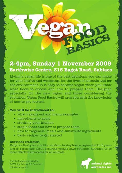 vegan food basics workshop flyer