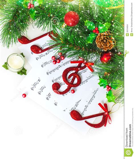 christmas musical border stock photo image  card close