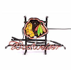 Chicago Blackhawks NHL Budweiser Neon Sign