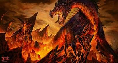 Dragon Lava Fantasy Drago Desktop Deviantart Dragons