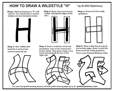 how to draw graffiti letters how to draw a wildstyle letter h by graffiti diplomacy 49736