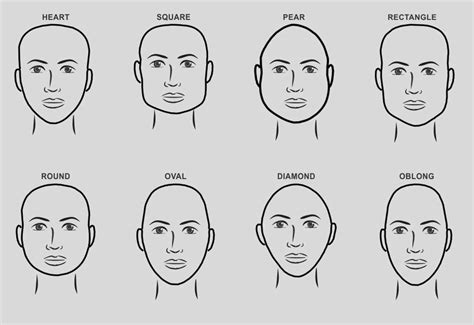 gallery male face shapes drawings art gallery
