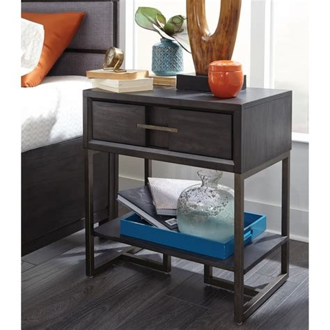 Open Nightstand by Shop Proximity Heights Contemporary 1 Drawer Open