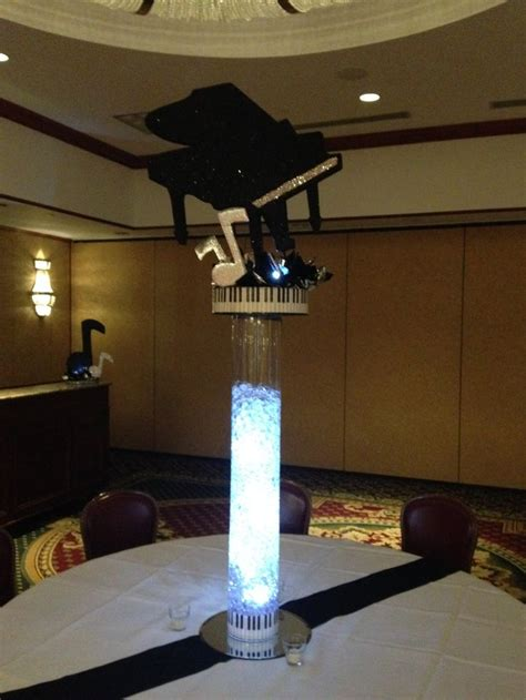 music themed table decorations piano music themed bar mitzvah centerpiece bar mitzvah