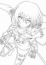 Coloring Anime Pages Para Drawing Colorear Dibujos Outlines Shingeki Kyojin Attack Titan Google sketch template