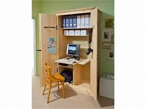Computer Arbeitsplatz Möbel : arbeitsplatz kleines b ro im schrank selber machen heimwerkermagazin ~ Indierocktalk.com Haus und Dekorationen