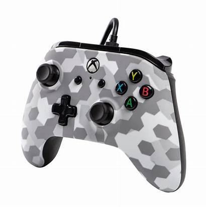Camo Arctic Xbox Controller Powera Wired Frost