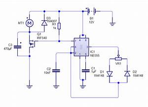 Ne555 Based Pwm Dc Motor Speed Controller Circuit With Pcb