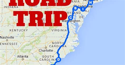 east coast road trip itinerary the best ever east coast road trip itinerary