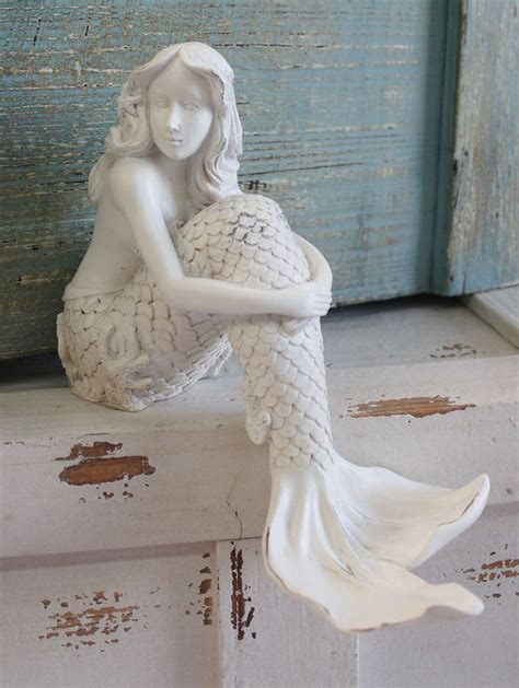 mermaid shelf sitter resin figurine bathrooms decor nautical bathroom decor and retail