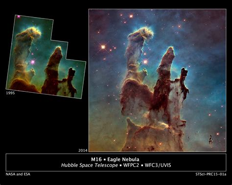 NASA's 20-Year-Old 'Pillars Of Creation' Photo Undergoes A ...