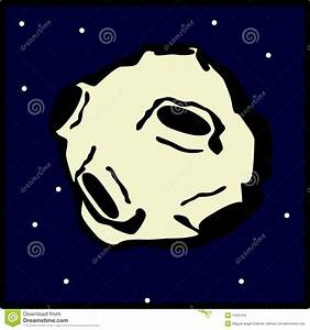 Asteroid Flying In The Space Vector Illustration Stock ...
