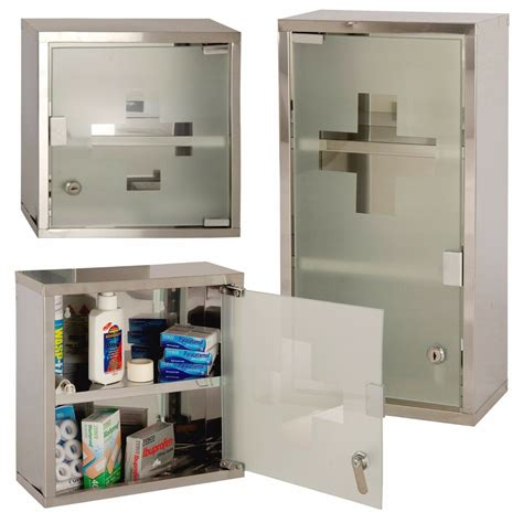 Locking Medicine Cabinet by Wall Mounted Lockable Stainless Steel Medicine Cabinet