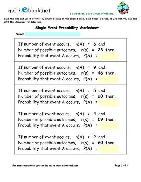 7th grade 187 compound probability worksheets 7th grade
