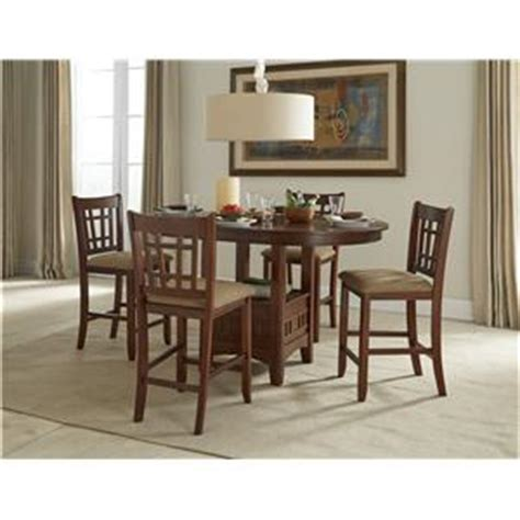 intercon mission casuals pedestal gathering table with