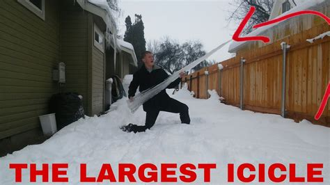 breaking the largest icicle in the world youtube