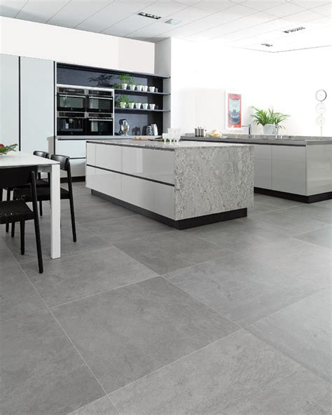 concrete look tiles rodano silver industrial kitchen perth by ceramo tiles