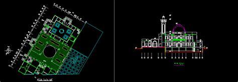 mosque dwg block  autocad designs cad