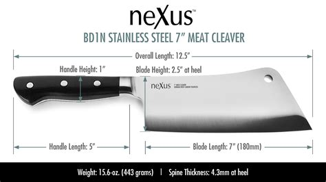 nexus heavy duty meat cleaver  bones professional