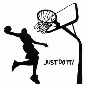 Just do it basketball wall decal diy removable sports home for Basketball wall decals