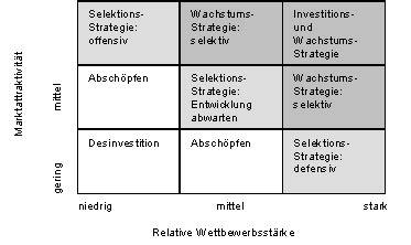 portfolio analyse neun felder matrix