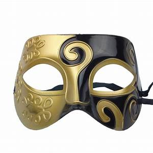 Gold Black Mask | Masquerade Fun