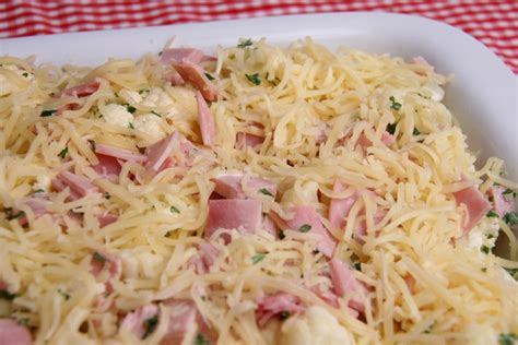 schinken sahne auflauf kartoffel karfiol auflauf mit schinken rezept