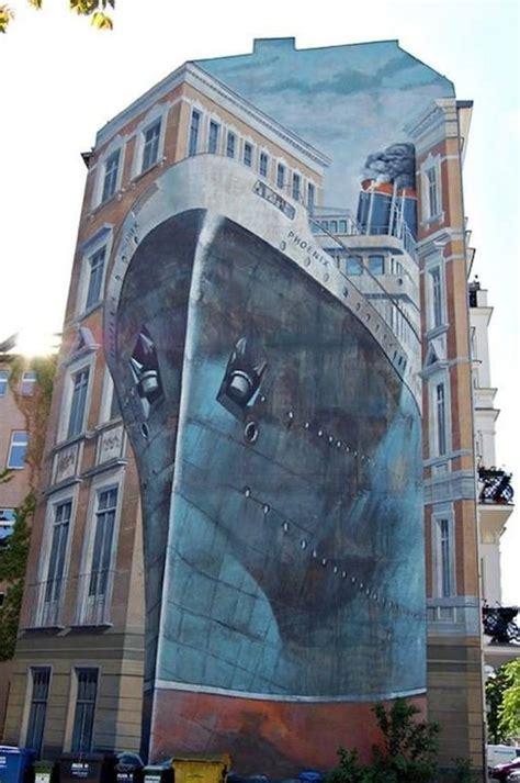 creative large scale street art murals