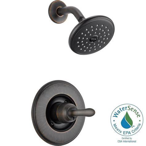 delta linden faucet rubbed bronze delta linden 1 handle 1 spray shower only faucet trim kit
