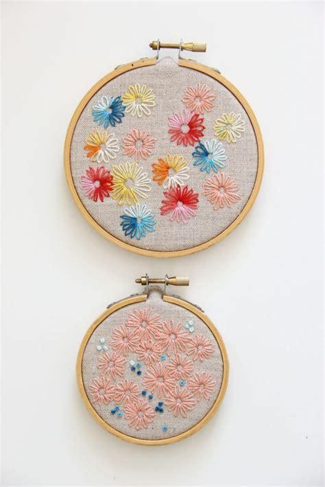 lazy daisy hand embroidery stitch simple craft ideas