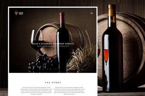 wine shop responsive wine template htmlcss themes