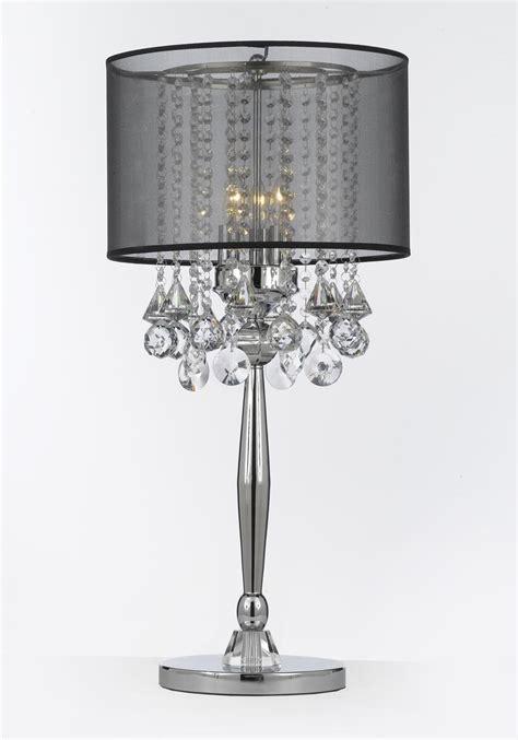 top  black crystal table lamps  warisan lighting